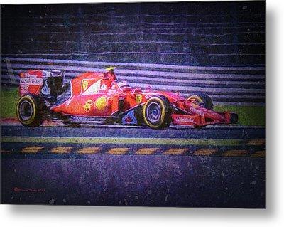 Prancing Horse Vettel Metal Print