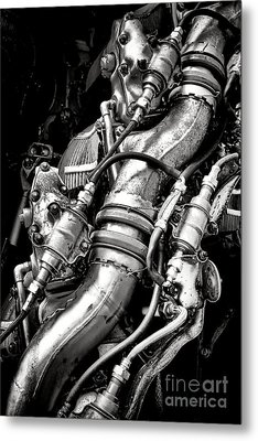 Pratt And Whitney Engine Metal Print