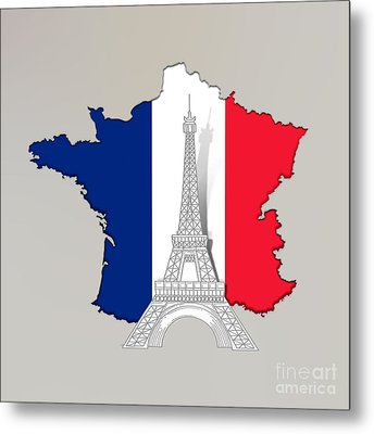 Pray For Paris Metal Print by Bedros Awak