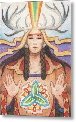 Pray For Unity Dream Of Peace Metal Print by Amy S Turner