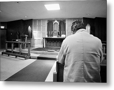 Metal Print featuring the photograph Prayer Before Mass by Jeanette O'Toole