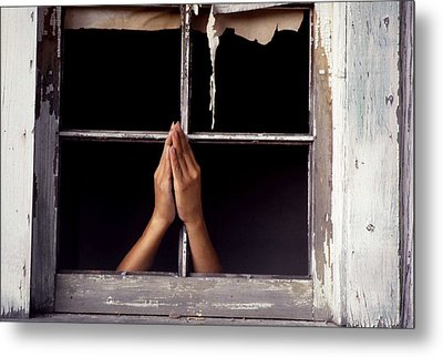 Prayer Metal Print by Emanuel Tanjala