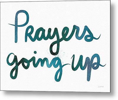 Prayers Going Up- Art By Linda Woods Metal Print