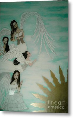 Praying For The Lovers Metal Print by Wendy Wunstell
