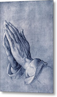 Praying Hands, Art By Durer Metal Print by Sheila Terry