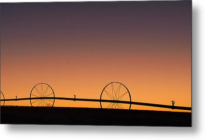 Pre-dawn Orange Sky Metal Print