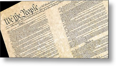 Preamble Of The Constitution Of The United States Metal Print by Jack R Perry