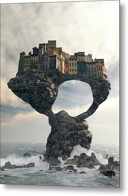 Precarious Metal Print by Cynthia Decker