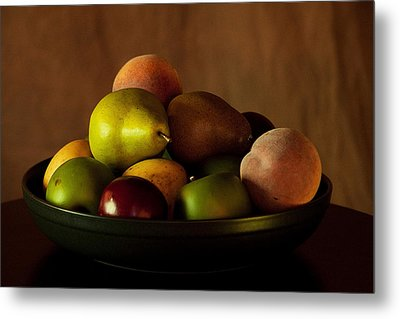 Precious Fruit Bowl Metal Print by Sherry Hallemeier