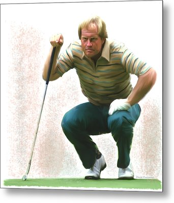 Precision Jack Nicklaus  Metal Print by Iconic Images Art Gallery David Pucciarelli