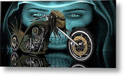 Metal Print featuring the digital art Predator Chopper by Louis Ferreira