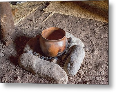Metal Print featuring the photograph Prehistoric Cooking  by Patricia Hofmeester