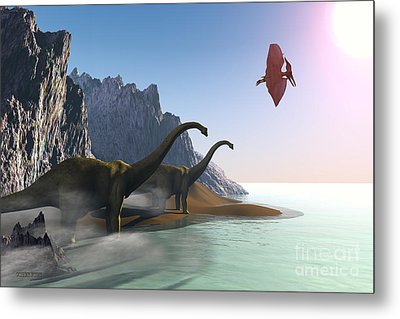 Prehistoric World Metal Print by Corey Ford