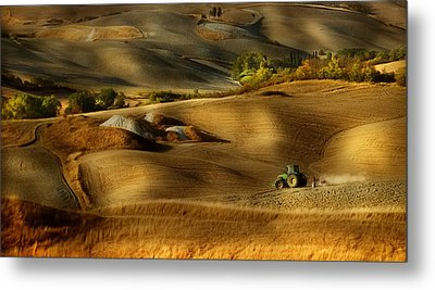 Preparation For Sowing - Volterra (pi) - Toscana - Italy Metal Print by Antonio Grambone