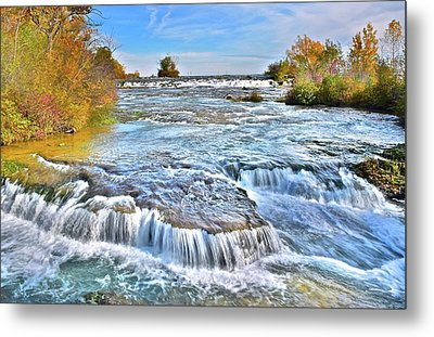 Metal Print featuring the photograph Preparing For The Big Fall by Frozen in Time Fine Art Photography