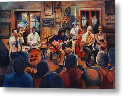 Preservation Hall Jazz Band Metal Print by Sue Zimmermann