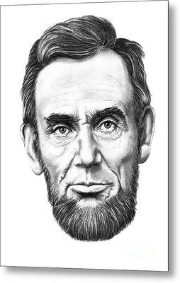 President Abe Lincoln Metal Print by Murphy Elliott