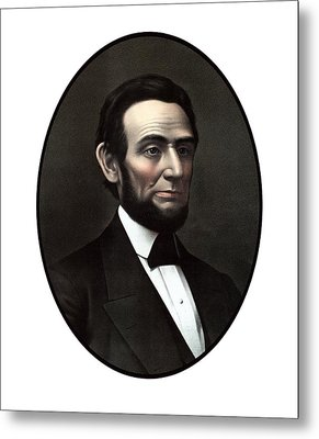 President Abraham Lincoln  Metal Print by War Is Hell Store