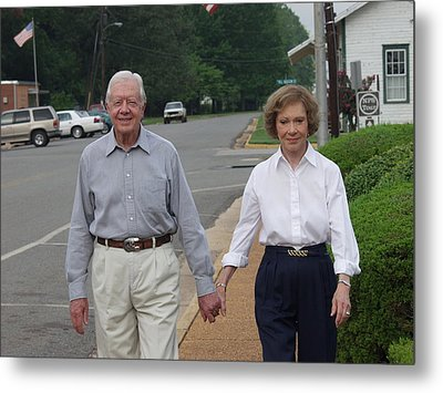 President And Mrs. Jimmy Carter Metal Print by Jerry Battle