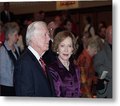 President And Mrs. Jimmy Carter Nobel Celebration Metal Print by Jerry Battle