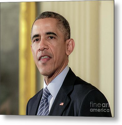 President Barack Obama Metal Print by Ava Reaves