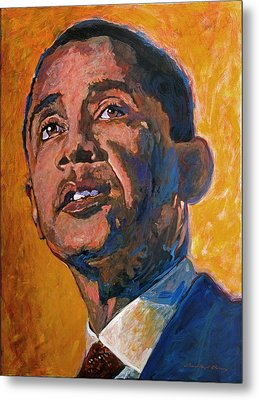 President Barack Obama Metal Print by David Lloyd Glover