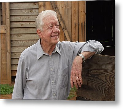 President Carter At His Boyhood Farm Metal Print by Jerry Battle