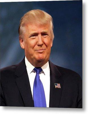 President Donald John Trump Portrait Metal Print