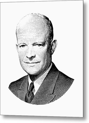President Dwight Eisenhower Graphic Metal Print by War Is Hell Store