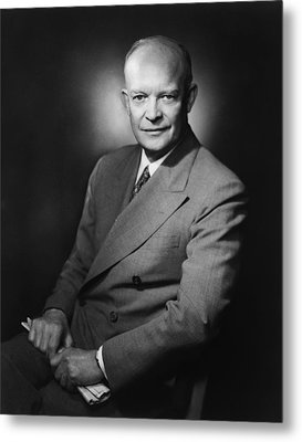 President Dwight Eisenhower Metal Print by War Is Hell Store