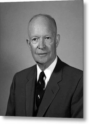 President Eisenhower Metal Print by War Is Hell Store