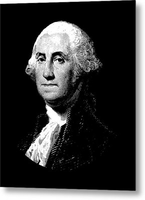 President George Washington Graphic  Metal Print by War Is Hell Store
