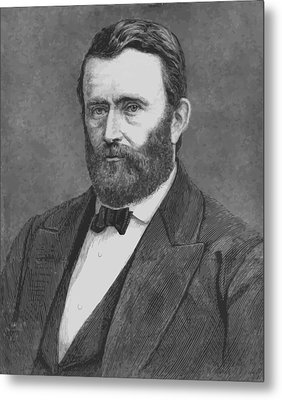 President Grant Metal Print by War Is Hell Store