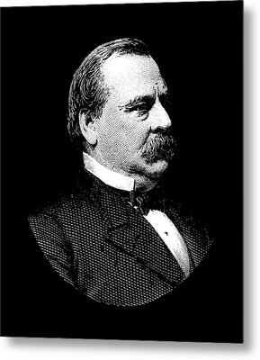 President Grover Cleveland Graphic Metal Print by War Is Hell Store