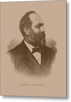 President James Garfield Metal Print by War Is Hell Store