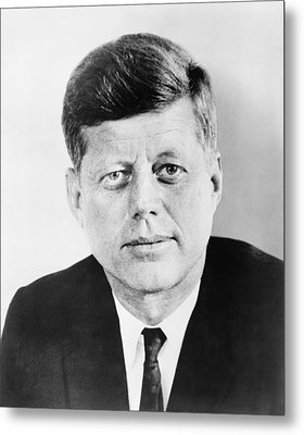 President John F. Kennedy Metal Print by War Is Hell Store