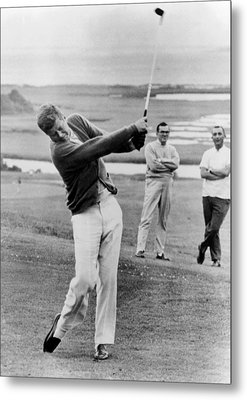 President John Kennedy Playing Golf Metal Print