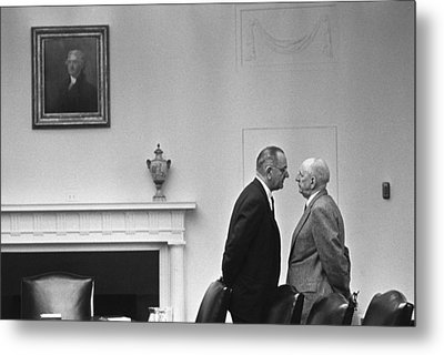 President Johnson Invading The Space Metal Print by Everett