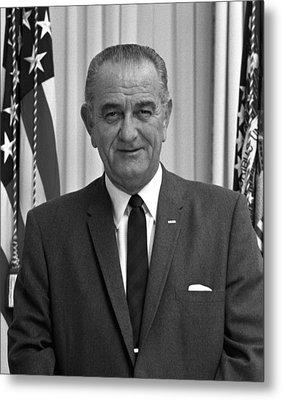 President Lyndon Johnson Metal Print