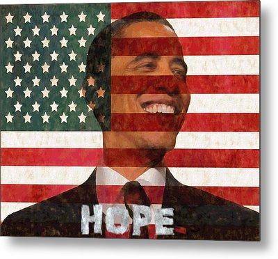 President Obama Hope Metal Print