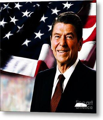 President Ronald Reagan Metal Print by Gull G