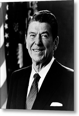 President Ronald Reagan Metal Print by International  Images
