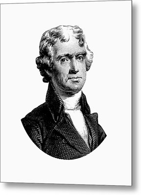 President Thomas Jefferson Graphic Metal Print