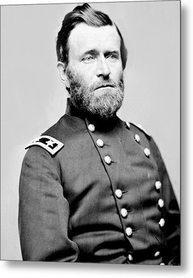 President Ulysses S Grant In Uniform Metal Print by International  Images