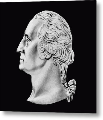 President Washington Bust  Metal Print by War Is Hell Store