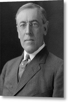 President Woodrow Wilson Metal Print by War Is Hell Store