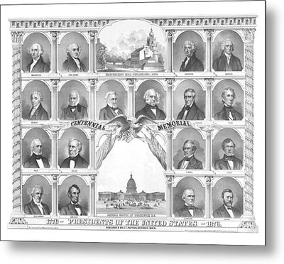 Presidents Of The United States 1776-1876 Metal Print by War Is Hell Store