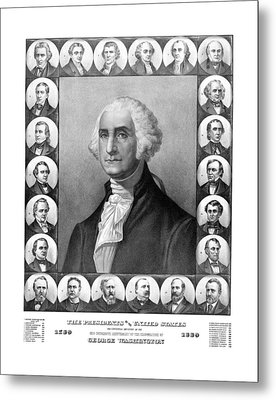 Presidents Of The United States 1789-1889 Metal Print by War Is Hell Store