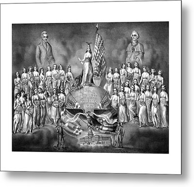 Presidents Washington And Jackson Metal Print by War Is Hell Store