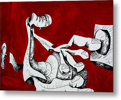 Press For Change.  Metal Print by Original Art For your home